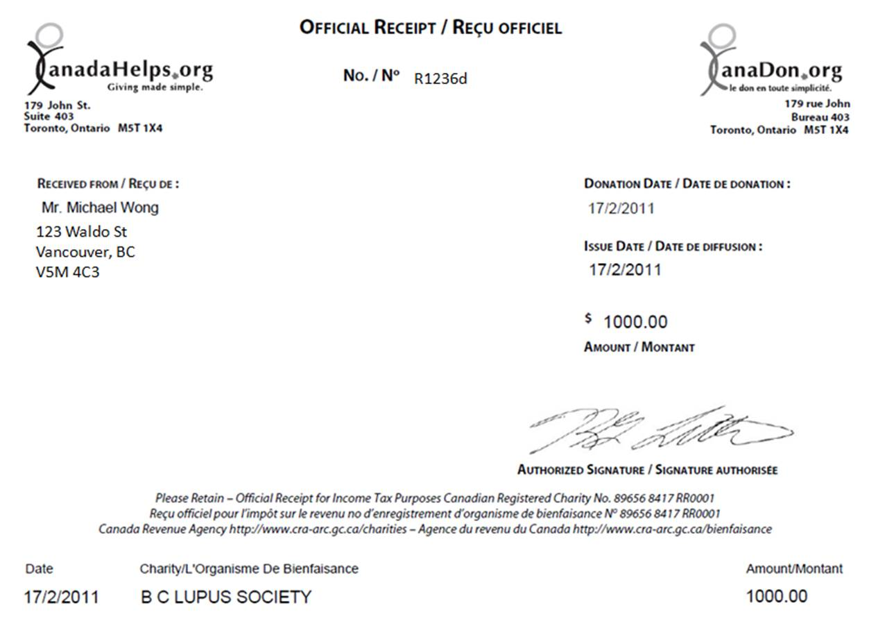 tax deductible donation receipt template at document templates